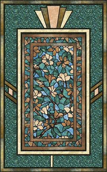 Quilt Patterns For Stonehenge Fabric : Art Glass Magnolia Pattern Quilter s Obsession