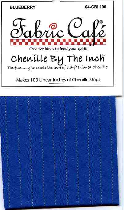 Chenille by the Inch - Blueberry