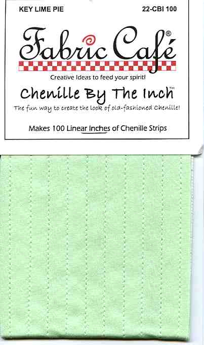 Chenille by the Inch - Key Lime Pie