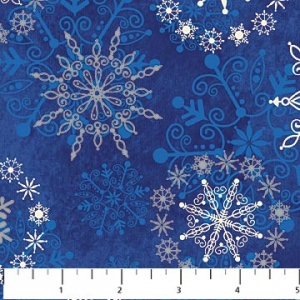 Starry Night - Snowflakes - Blue