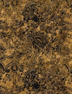 Falling Leaves - Mini Paisley - Gold