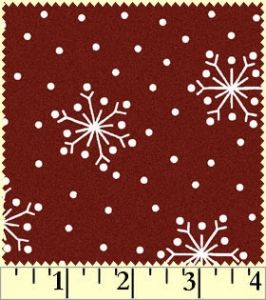 Crazy for Christmas - Snowflake - Dk Red