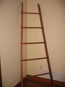 Quilt Ladder - Stained Oak 90 inches