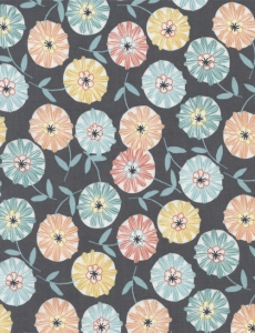 Lily - Tossed Floral - Grey