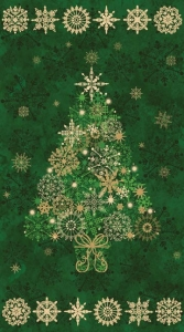 Starry Night - Tree Panel - Green