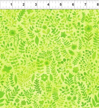 Floral Menagerie - Sprigs - Green