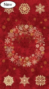Starry Night - Wreath Panel - Red