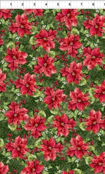 A Poinsettia Winter - Bunched Flowers