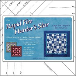 Rapid Fire Hunter's Star - Large Template