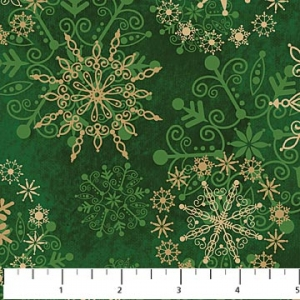 Starry Night - Snowflakes - Green