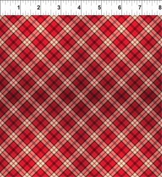 A Poinsettia Winter - Plaid - Red