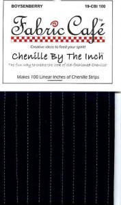 Chenille by the Inch - Boysenberry
