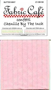 Confetti Chenille by the Inch - Butter Mint