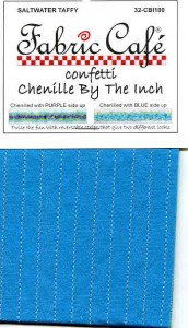 Confetti Chenille by the Inch - Saltwater Taffy