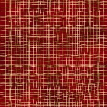 All That Glitters - Plaid - Scarlet/Gold