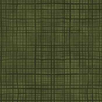 Amour - Plaid Texture - Dark Green