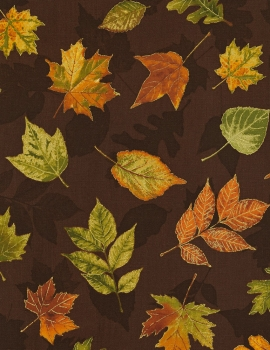 Autumn Palette - Fall Leaves - Brown