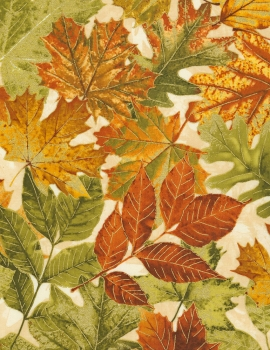 Autumn Palette - Leaves - Cream