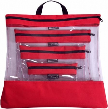See Your Stuff Bag -  Set - Red