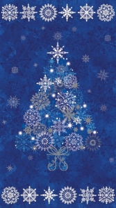 Starry Night - Tree Panel - Blue