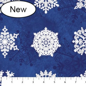 Starry Night - Lg Snowflake - Blue