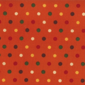 Give Thanks - Dots - Pumpkin Orange