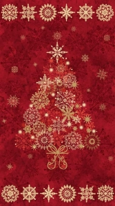 Starry Night - Tree Panel - Red