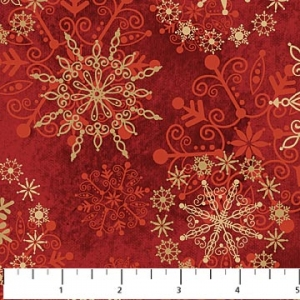 Starry Night - Snowflakes - Red
