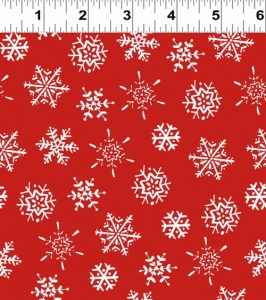 Frosty Fun - Snowflake - Red